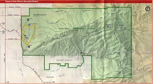 United States National Parks Map by Eastern Saguaro National Park Map Rincon Mountain District
