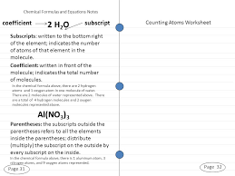 Counting Atoms Worksheet 1 Unit 1 Test Day Page 13 The Elements Page 14 Thurs