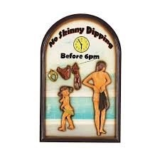 ram game room odr637 décor skinny dipping sign outdoor wall art