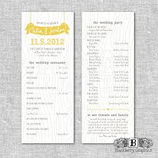 sided wedding programs 24 best wedding tree invitation images on