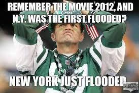 New York Jets Memes - new york flooding end of world meme