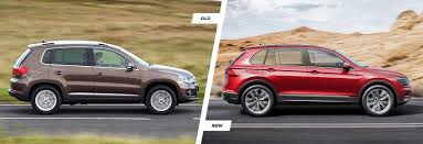 volkswagen suv 2015 interior volkswagen tiguan old vs new compared carwow
