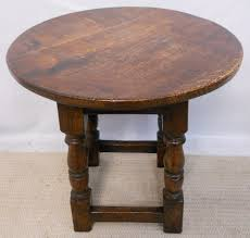 small round oak coffee table oak antique style coffee table sold