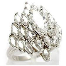 diamond cocktail rings vintage marquise diamond cluster cocktail ring solid platinum