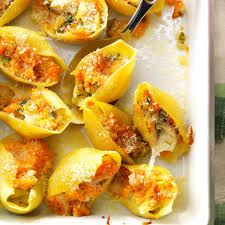 thanksgiving stuffed shells recipe taste of home