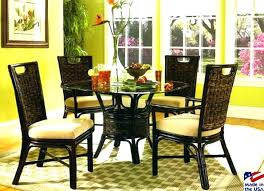 indoor wicker dining table rattan dining table and chairs black wicker dining chairs dining