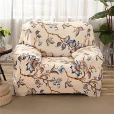 floral sofa sunnyrain beige polyester elastic sofa cover printed floral sofa