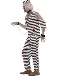 inmate halloween costume mens zombie convict dead prisoner halloween fancy dress costume