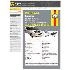 haynes manuals online mitsubishi lancer ce cg ch supercheap auto