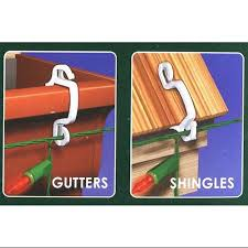 how to hang christmas lights on gutters buy 100ct outdoor gutter or siding hooks for hanging icicle