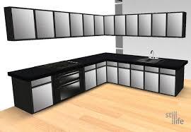 kitchen steel cabinets second life marketplace still life kitchen cabinets black