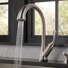 delta ashton kitchen faucet shop delta ashton touch2o stainless 1 handle deck mount pull