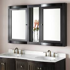 Black Framed Bathroom Mirror by Bathroom Natural Wood Frame Mirrored Medicine Cabinets For