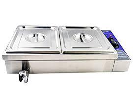 amazon com bain marie buffet food warmer 110v 2 well pots pans
