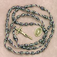 knotted rosary cord rosary 8 25 10 15 the fatima project