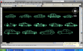 library car blocks in autocad 2d