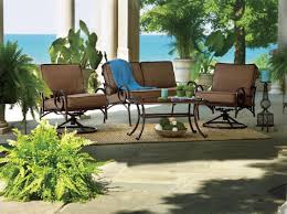 retro metal patio chairs over bamboo rug with also royal design of cushion