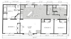4 bedroom floor plan b 6012 hawks homes manufactured 3 mobile home