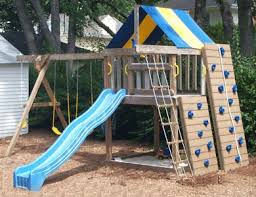 Backyard Playground Slides by Swing Set Plans To Build Wooden Swing Sets