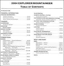 Ford Explorer Interior Dimensions 2004 Ford Explorer And Mercury Mountaineer Repair Shop Manual Original