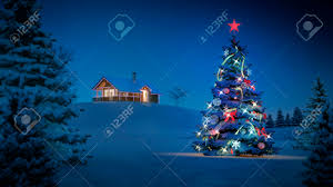 computer generated background image with christmas theme stock