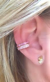 cuff ear single row pink sapphire ear cuff ko