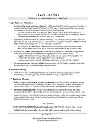 Data Warehouse Resume Sample by Job Resume Sample Senior System Analyst Description And In 15