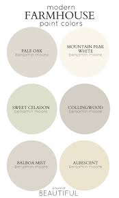 Best White Paint Color For Kitchen Cabinets by Modern Farmhouse Color Palette Best Paint Colors For Modern