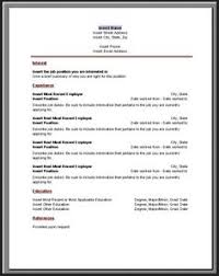 Chronological Resume Template Simple Resume Format Pdf Simple Resume Format