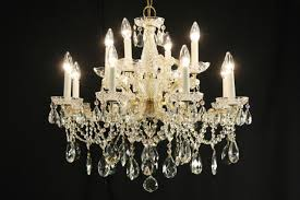 Maria Theresa 6 Light Crystal Chandelier Sold Maria Theresa 12 Candle Vintage Strass Crystal Chandelier