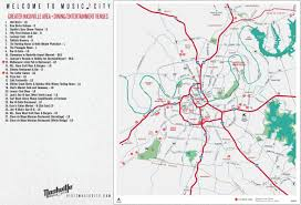 Tennessee City Map by Free Printable Map Of Nashville Attractions From Tripomaticcom