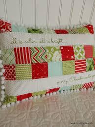 a quilting life a quilt blog merry christmas patchwork pillow