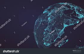 World Map Image by World Map Point Line Composition Representing Stock Vector