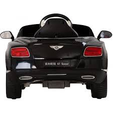 bentley sports car rear kids bentley continental gt licensed 12v electric battery ride