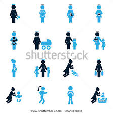 family symbols web icons stock vector 352049084