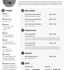 It Resumes Templates Fun Resume Templates 7 Creative Online Cv Resume Template For Web