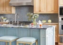 modern concept large sky blue glass subway tile kitchen backsplash