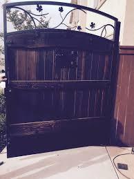 ornamental iron gate wood iron el dorado ca
