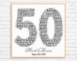 50 year wedding anniversary gift 50th anniversary gifts etsy