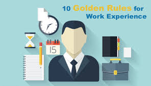 10 golden for work experience publishing talk