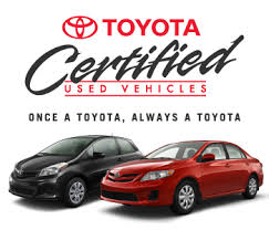 toyota certified pre owned cars certified used vehicles