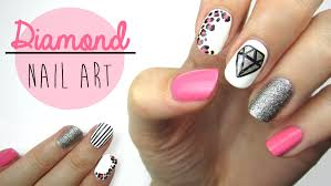 diamond nail art youtube