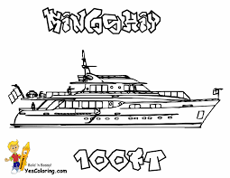 coloring pages yacht coloring home