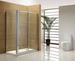 shower modern walk in shower design with white tile flooring