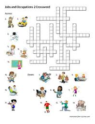 jobs and occupations 2 crossword worksheet u2013 esl files