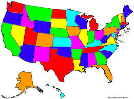 map usa color color map of united states and volgogradnews me