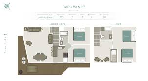 Cabin Floorplan by 3 Bedroom With Loft Park Rapids Mn Cabin Rental