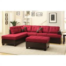 Red Sofa Sets by Norton 3 Pc Black Faux Leather Modern Living Room Sofa Set