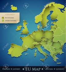 European Countries Map Vector Europe Map With European Union Eu Countries Great