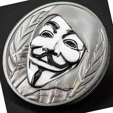 Guy Fawkes Mask Halloween by Islands 1st Anonymous 3d Guy Fawkes Mask 5 Silver Coin High